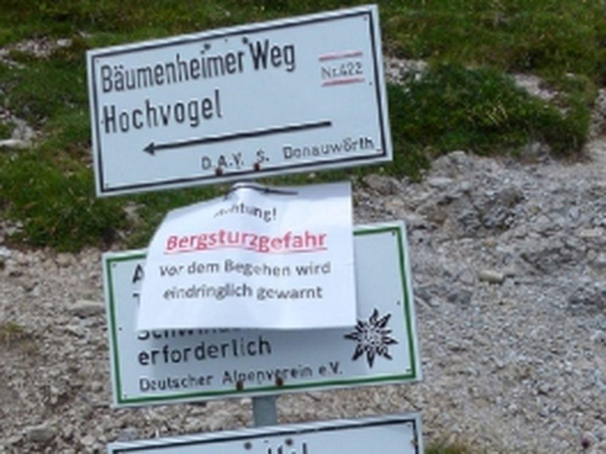 Hochvogel - Gipfelweg gesperrt | BR-Online, 26.09.2014